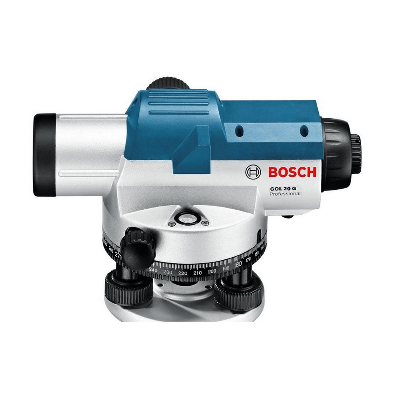 Комплект оптичен нивелир Bosch GOL 20 G - 20x3 мм/20 м, 360 градуса + BT160 + GR500