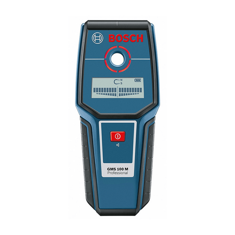 Детектор за метали и кабели под напрежение Bosch GMS 100 M - метал 100 мм, мед 80 мм, кабели 50 мм