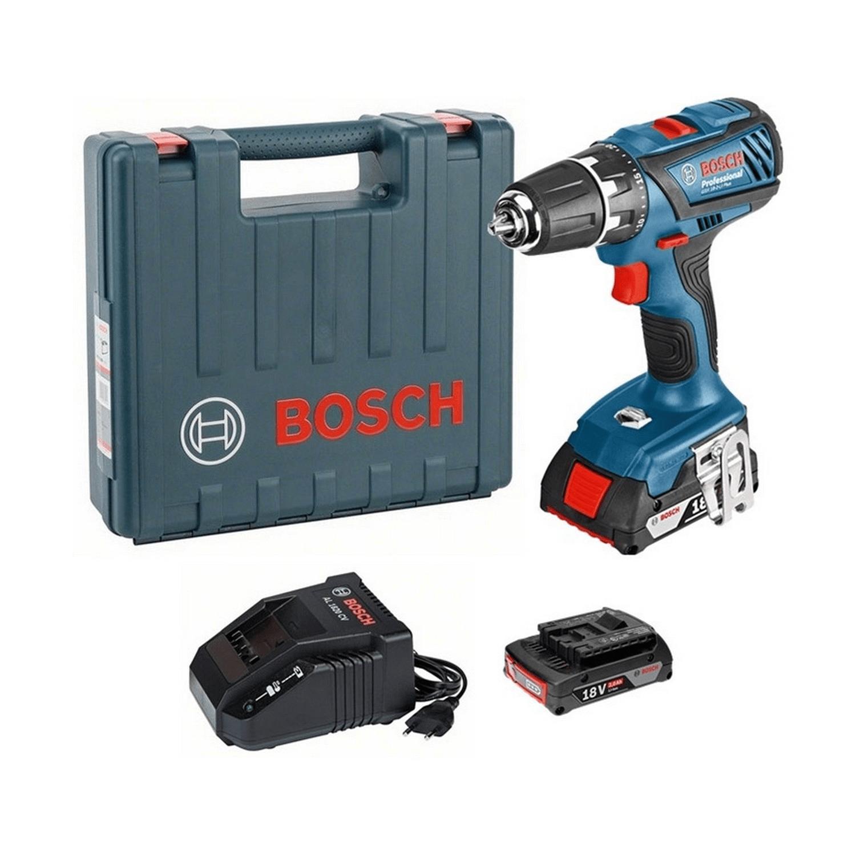 Акумулаторен винтоверт Bosch GSR 18-2-Li Plus - 18 V, 2 Ah, 63 Nm