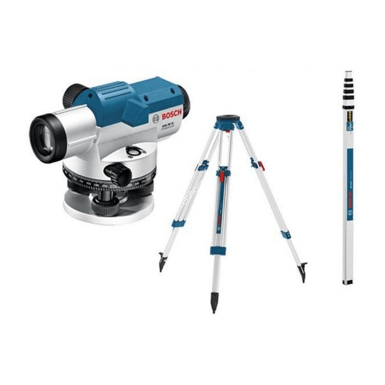 Комплект оптичен нивелир Bosch GOL 26 G - 26x1.6 мм/30 м, 360 градуса + BT160 + GR500