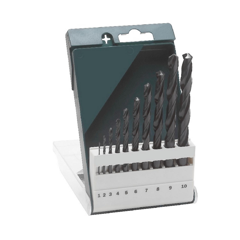 Свредло за метал с цилиндрична опашка оксидирано Bosch - ф 1-10 мм, 10 бр. - 2609255030