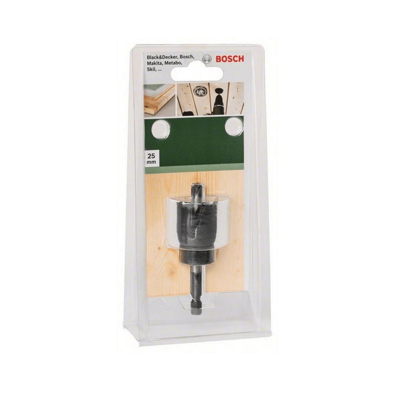 Боркорона за дърво с държач захват 1/4 Bosch - ф 25 мм