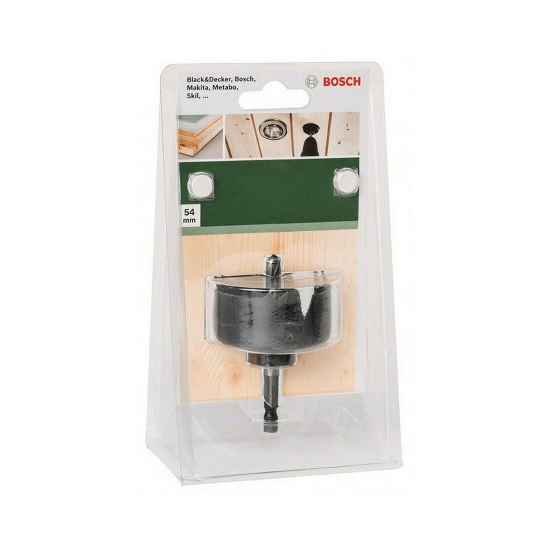 Боркорона за дърво с държач захват 1/4 Bosch - ф 54 мм
