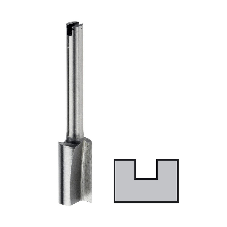 Фрезер за дърво профилен прав, без лагер Dremel 654 - ф 6.4 мм, опашка ф 3.2 мм