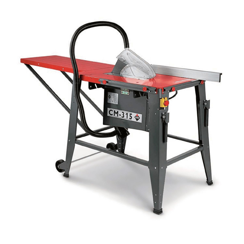 Циркуляр строителен с работен плот Rubi CM-315 - 1.5 kW, 230 V, 2870 об./мин, ф 315 мм