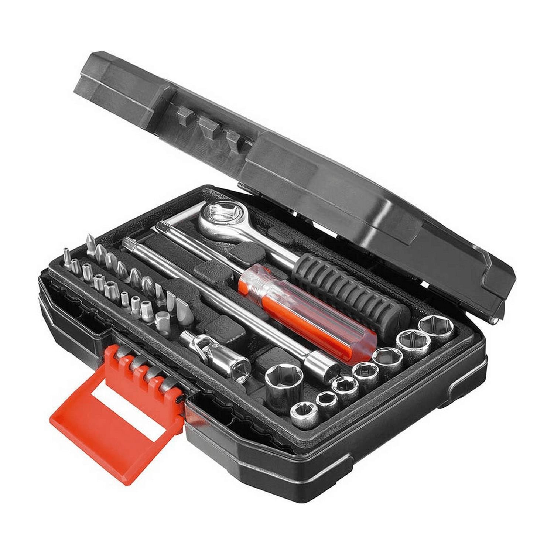 Комплект накрайници с тресчотка и вложки PH/PZ/TX/SB/RB Black&Decker A7142 - 31 бр.