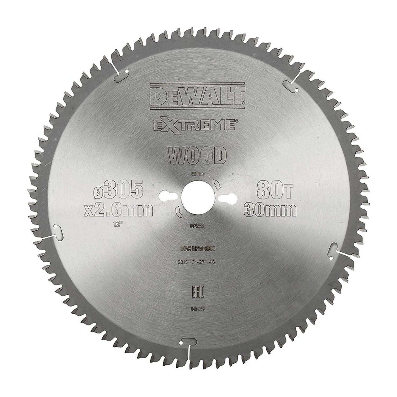 Циркулярен диск HM за рязане на дърво DeWALT Extreme - ф 305х30х2.6 мм, z 32