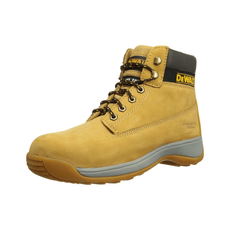 Обувки работни с метално бомбе и каучукова подметка високи №40, Honey DeWALT Apprentice