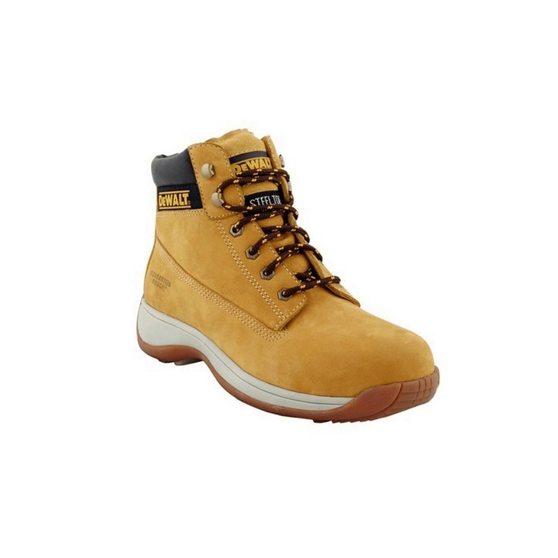 Обувки работни с метално бомбе и каучукова подметка високи №43, Honey DeWALT Apprentice